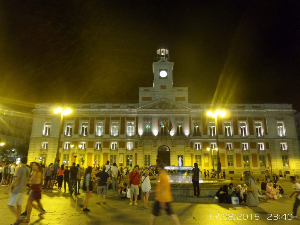 Madrid-sol-meydani-gece